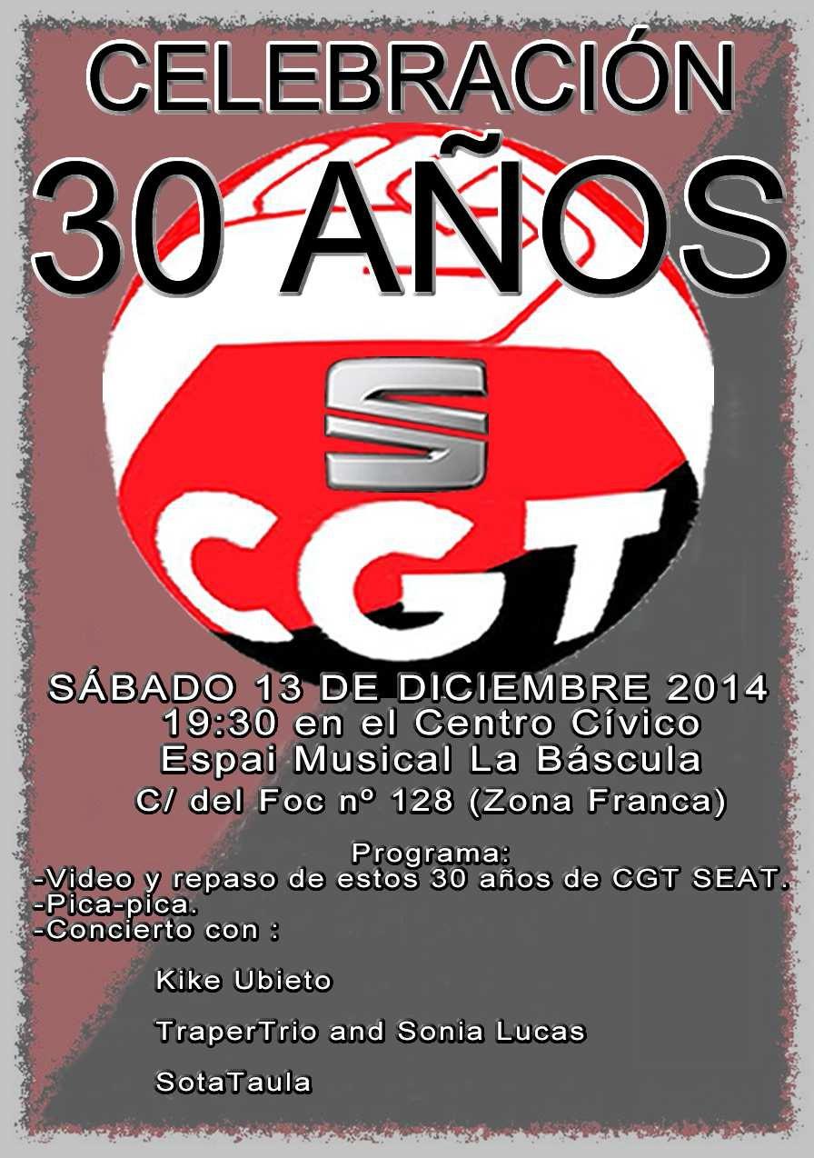 fiesta 30 años de CGT en SEAT