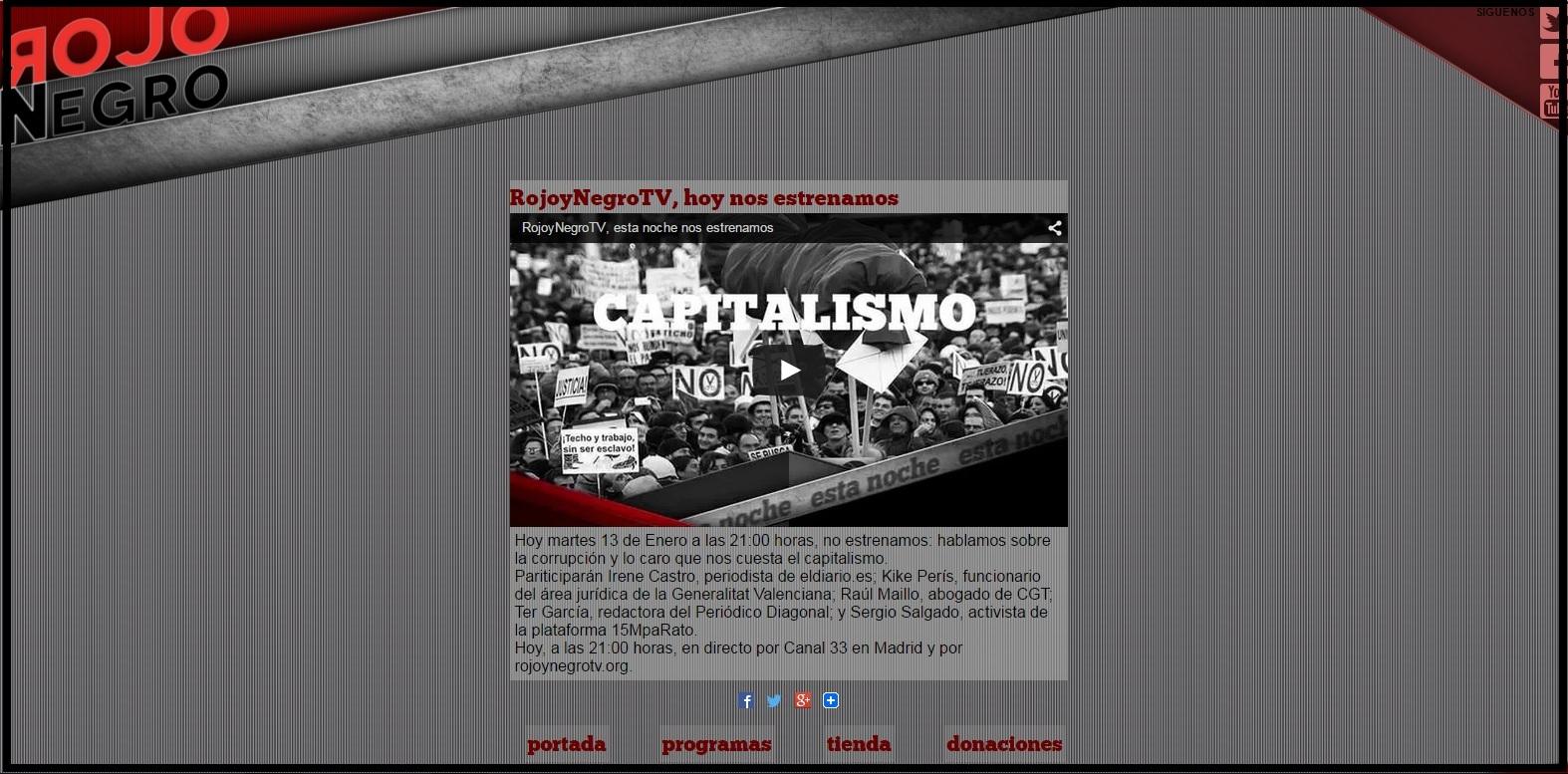 web rojo y negro TV