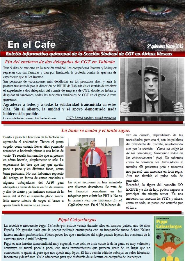 en el cafe 1ª de marzo2015