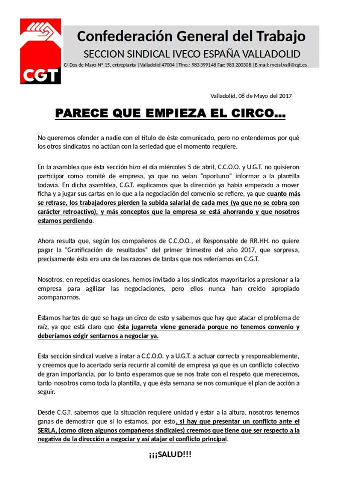 PARECE QUE EMPIEZA EL CIRCO