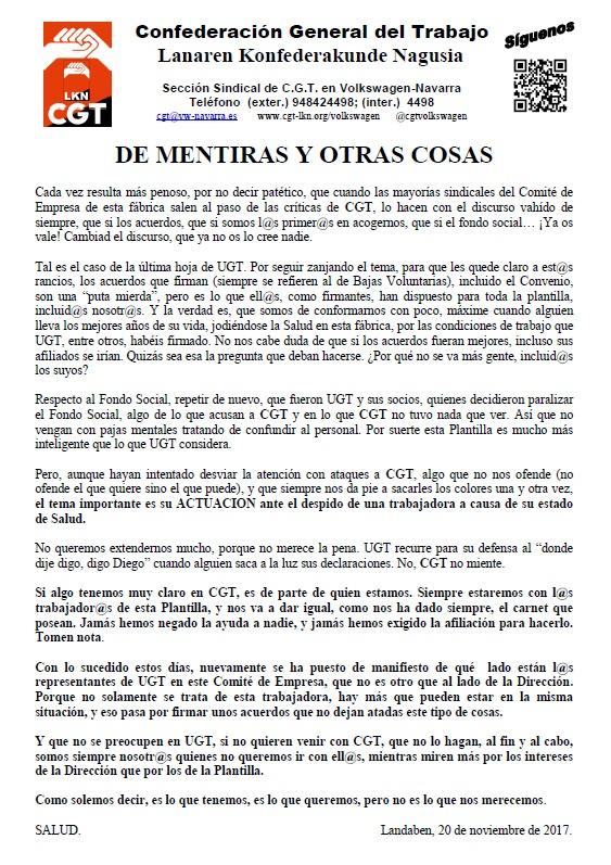 DE MENTIRAS Y OTRAS COSAS