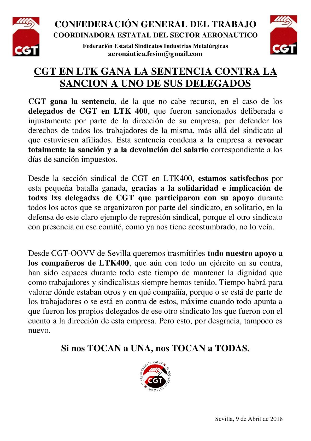 CGT LTK GANA LA SENTENCIA-001