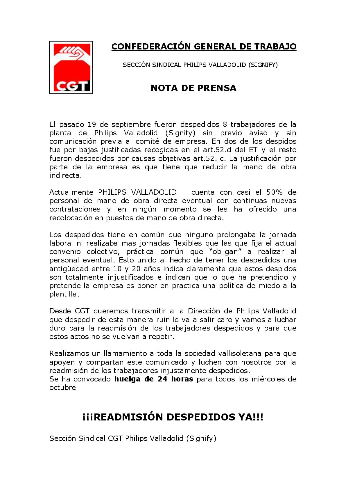 NOTA DE PRENSA HUELGA -001