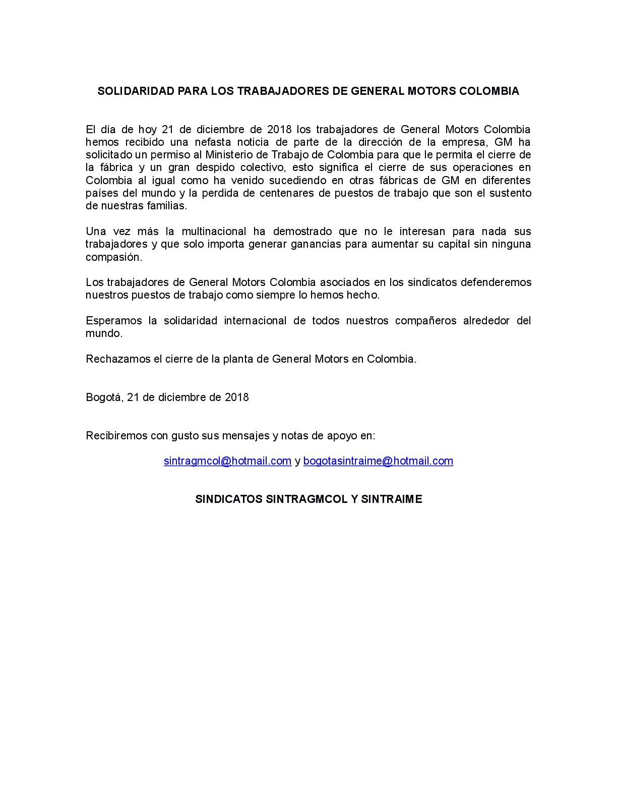 181221 GM COLOMBIA - Nota de Protesta-001