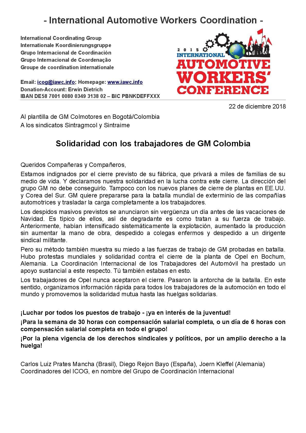 IAC2019_10.040_ES_181222_ICOG_solidaridad con trabajadores de GM Colombia-001