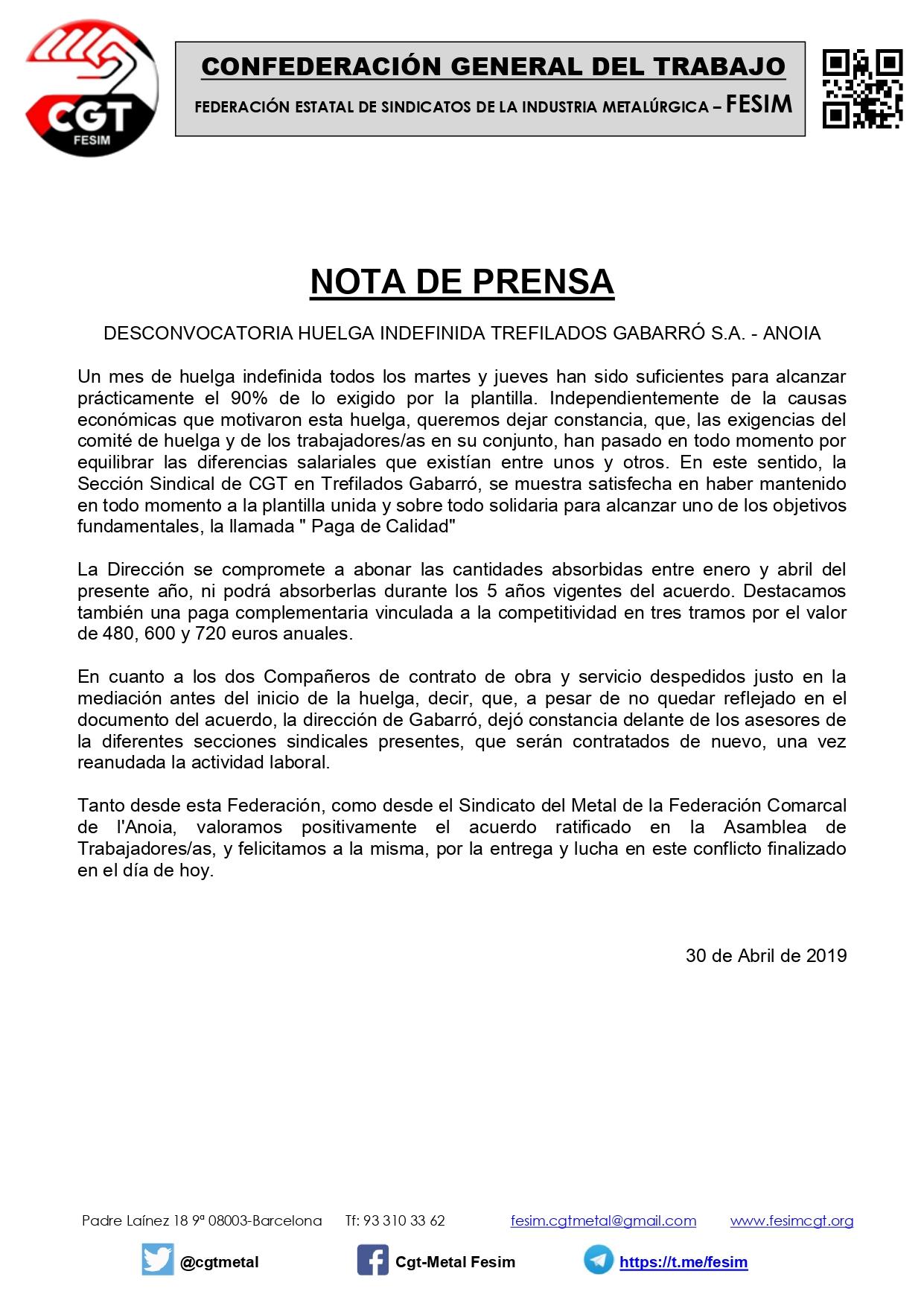Nota de Prensa (desconvocatoria huelga en Gabarro)_page-0001